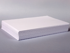 Pile of blank paper