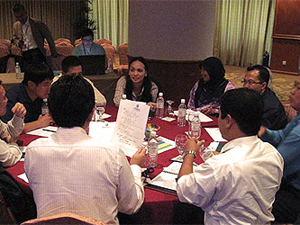 Group in discussion